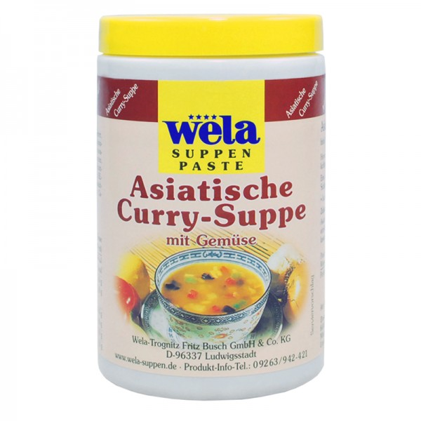Asiatische Curry-Suppe