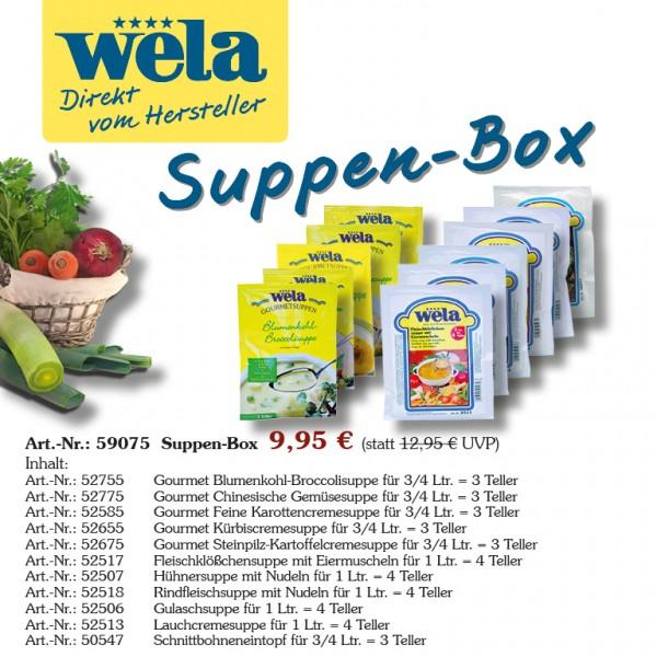 Suppen-Box von Wela, 11x Suppe vielfältig und lecker