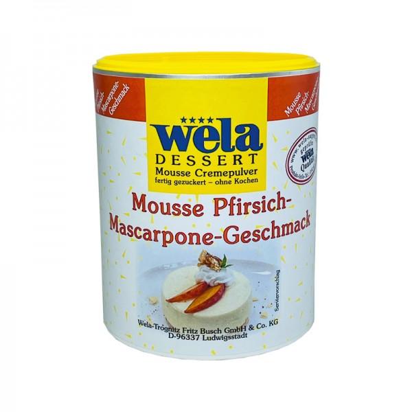 Mousse Pfirsich-Mascarpone-Geschmack