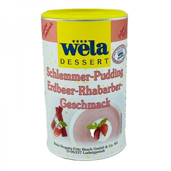 Schlemmer-Pudding Erdbeer-Rhabarber-Geschmack