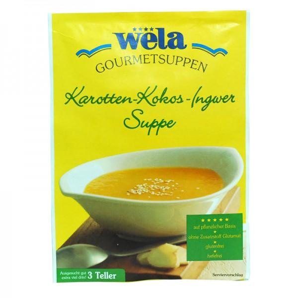 Gourmet Karotten-Kokos-Ingwer Suppe