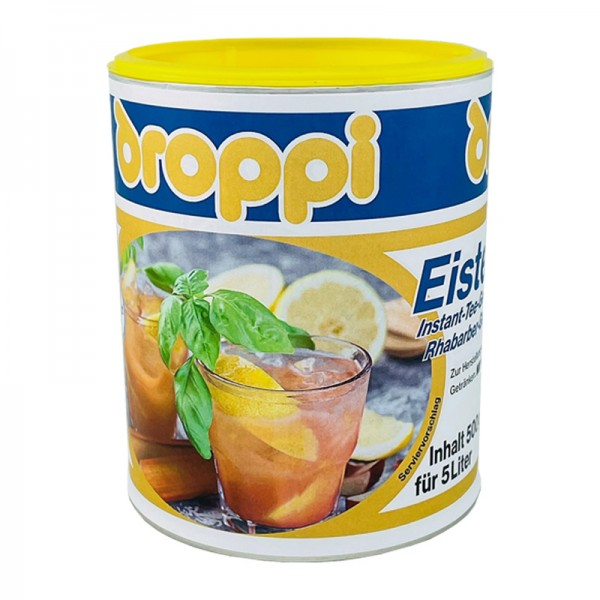 Droppi Eistee Rhabarber-Geschmack