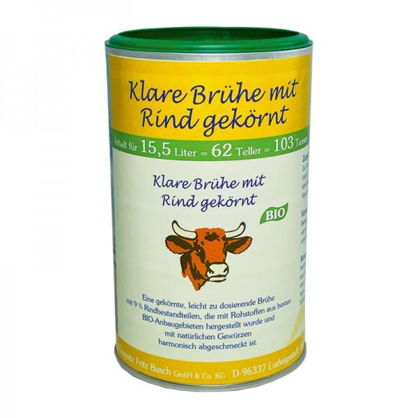 Bio Klare Brühe mit Rind gekörnt