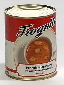 Perlhuhn-Consommé