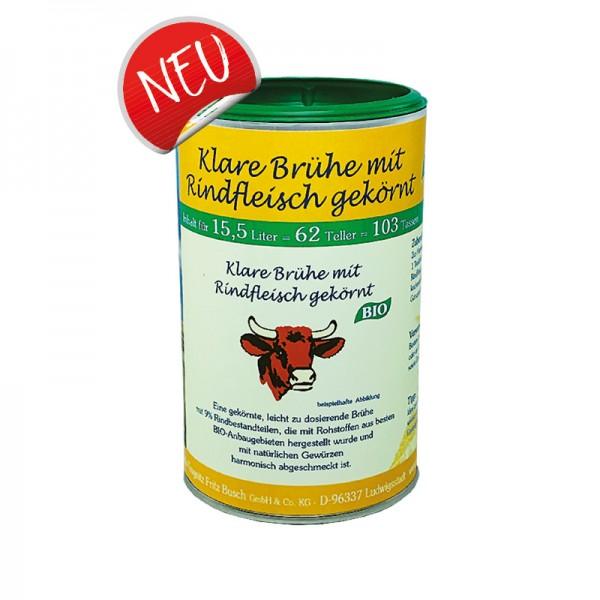 Bio Klare Brühe mit Rindfleisch gekörnt